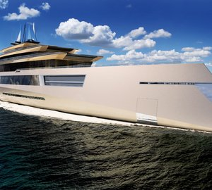 High-end 180M Mega Yacht SYMMETRY design – A bi-directional maneuverable concept yacht by SINOT Exclusive Yacht Design