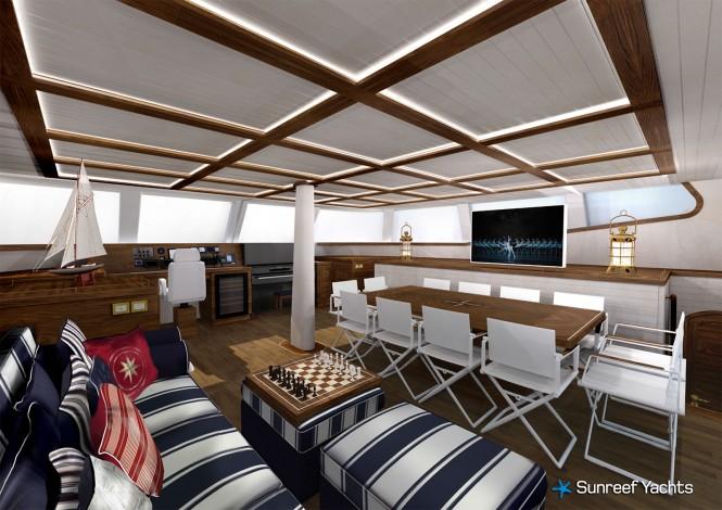 Sailing catamaran Lucy Z - Saloon