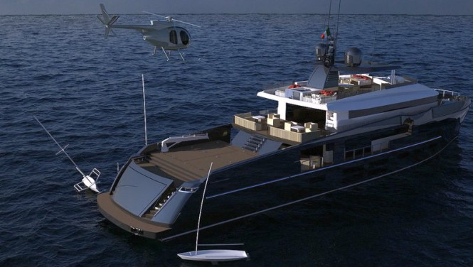 Luxury yacht NEMO concept - aft view