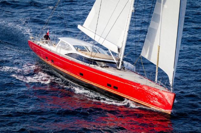 Baltic 116 superyacht DORYAN under sail