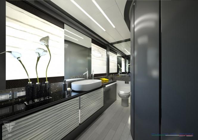 F93 Superyacht - Master Cabin Bathroom