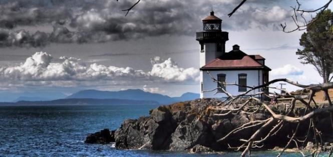 Lime Kiln Lighthouse - San Juan Island - Washington State - Photo Tim Thompson - courtesy of San Juan Islands Tourist Board