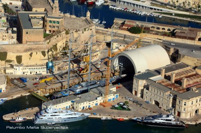 Luxury Charter Yacht MALTESE FALCON at Palumbo Malta