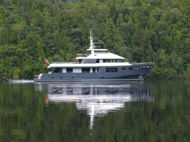 Luxury Charter Yacht VvS1 in Fiordland - Photo by Michael Eaglen (McMullen & Wing)