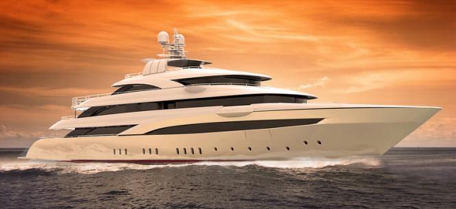 Luxury mega yacht OPari3 designed by Giorgio and Stefano Vafiadis
