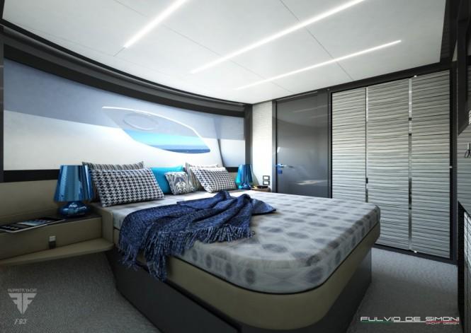 Luxury yacht F93 - Guest Cabin