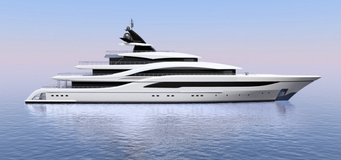 New 77m mega yacht NB63 by Turquoise Yachts