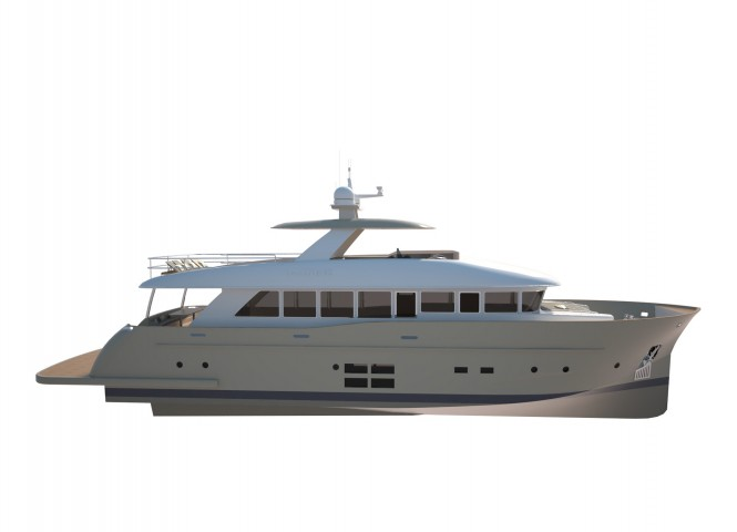 Rendering of motor yacht 27 SC by C.Boat