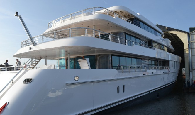 Super Yacht JUST Js ready to be launched