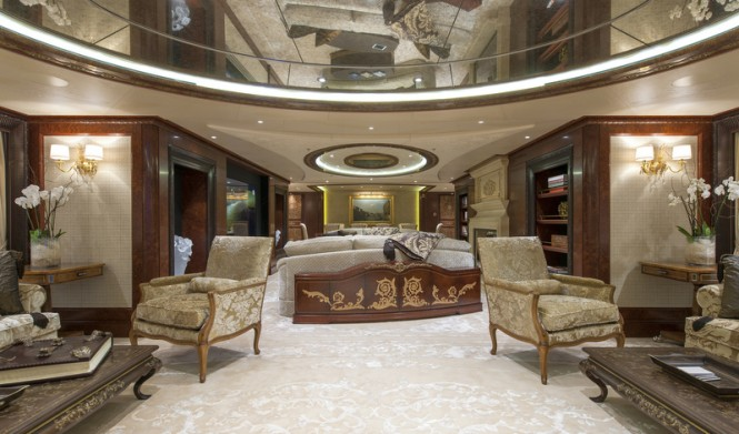 Super yacht ESTER III - Main Deck Saloon - Photo by Klaus Jordan