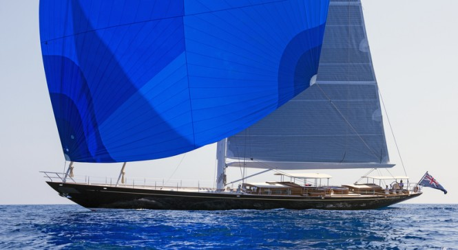 Truly Classic 127 superyacht ATALANTE under sail - Photo by Rick Tomlinson