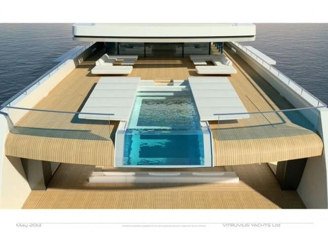 105m Acquaintance concept - aft view - Pool