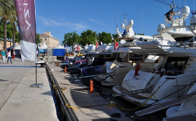 Luxury vessels by Azimut on display at the Palma Superyacht Show - Photo by Peter Franklin