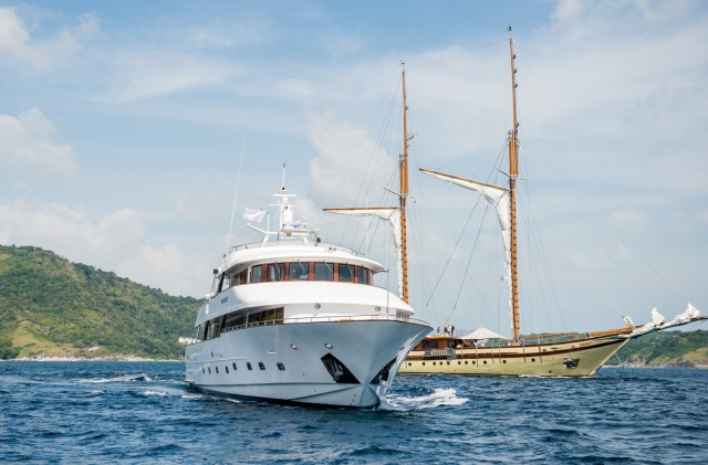 M/Y Vie San Soucis and S/Y Lamima at the Asia Superyacht Rendezvous 2015 - Image Credit- Jessi Cotterill