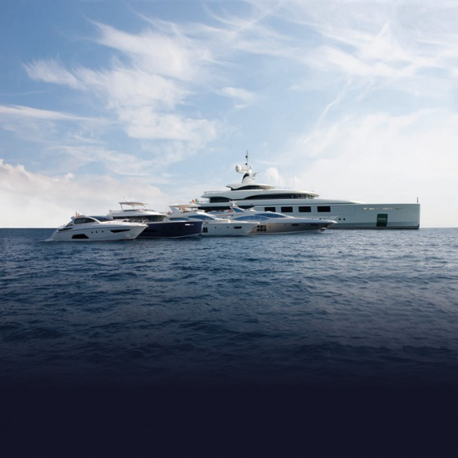 The whole range of luxury vessels by Azimut Benetti Group