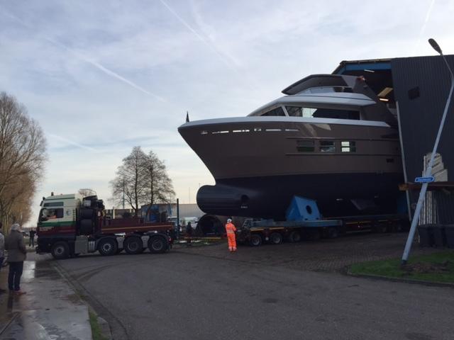 24m Drettmann Explorer Yacht being rolled out