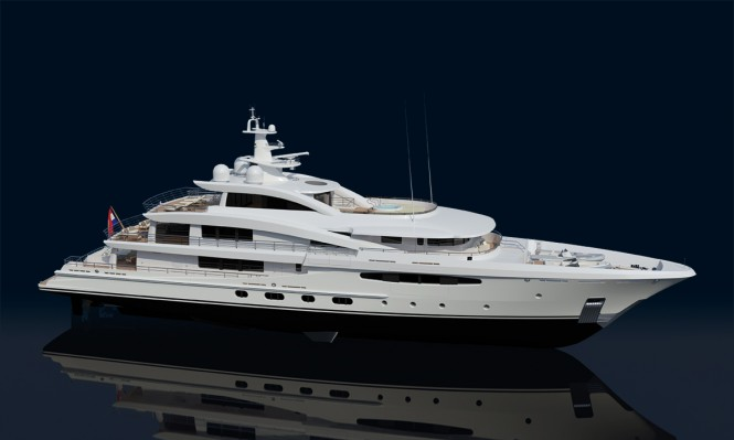 AMELS 188 yacht in 3D
