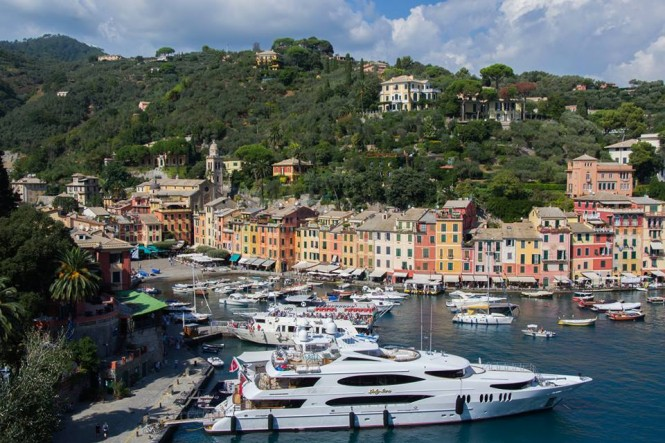 Lady Sara yacht in Portofino Italy - Photo by Kasia Palac