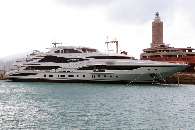 90m LIONHEART by Benetti on the water - Image credit to Livorno Daily Photo
