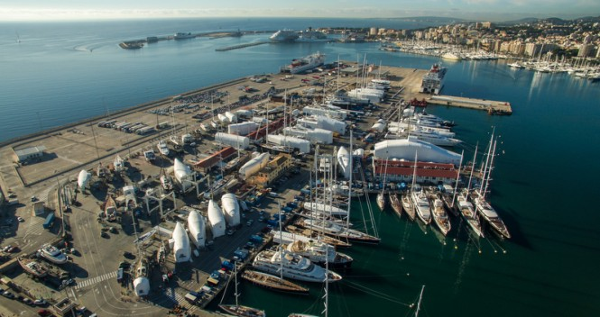 Aerial view of STP Shipyard Palma