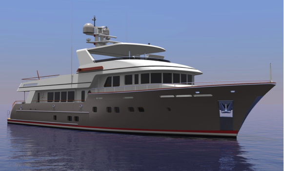 Rendering of Anodyne (ex Boundless) to be rebuilt by Derecktor Florida