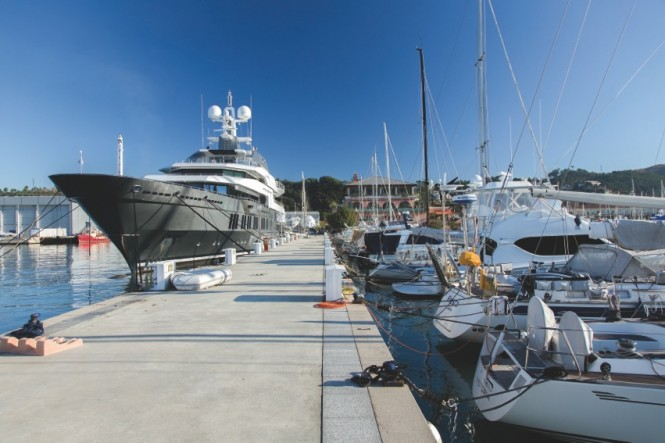Superyachts at the Porto Lotti in Liguria