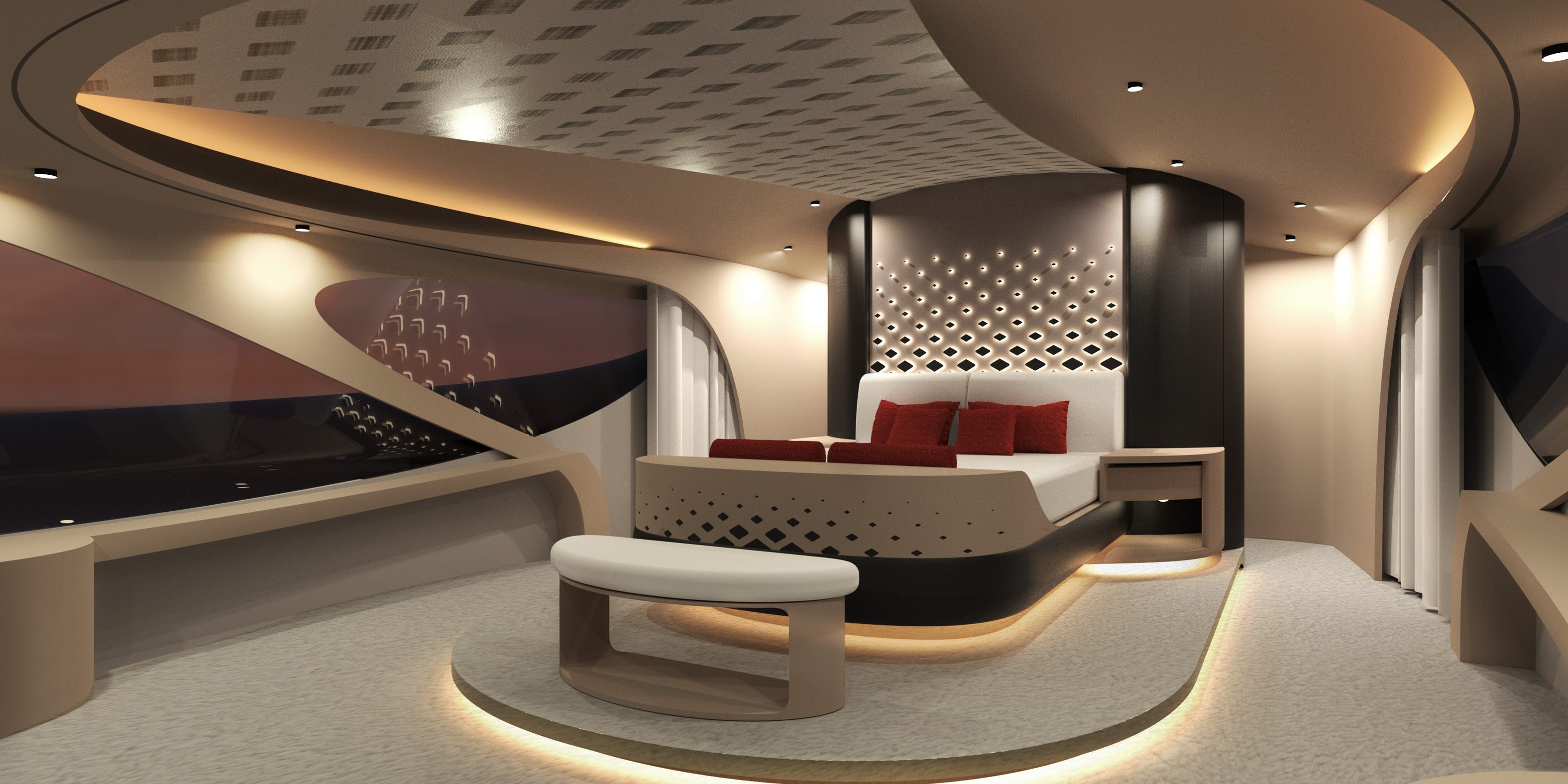 Interior Accommodation Luxury Superyacht Concept Cercio