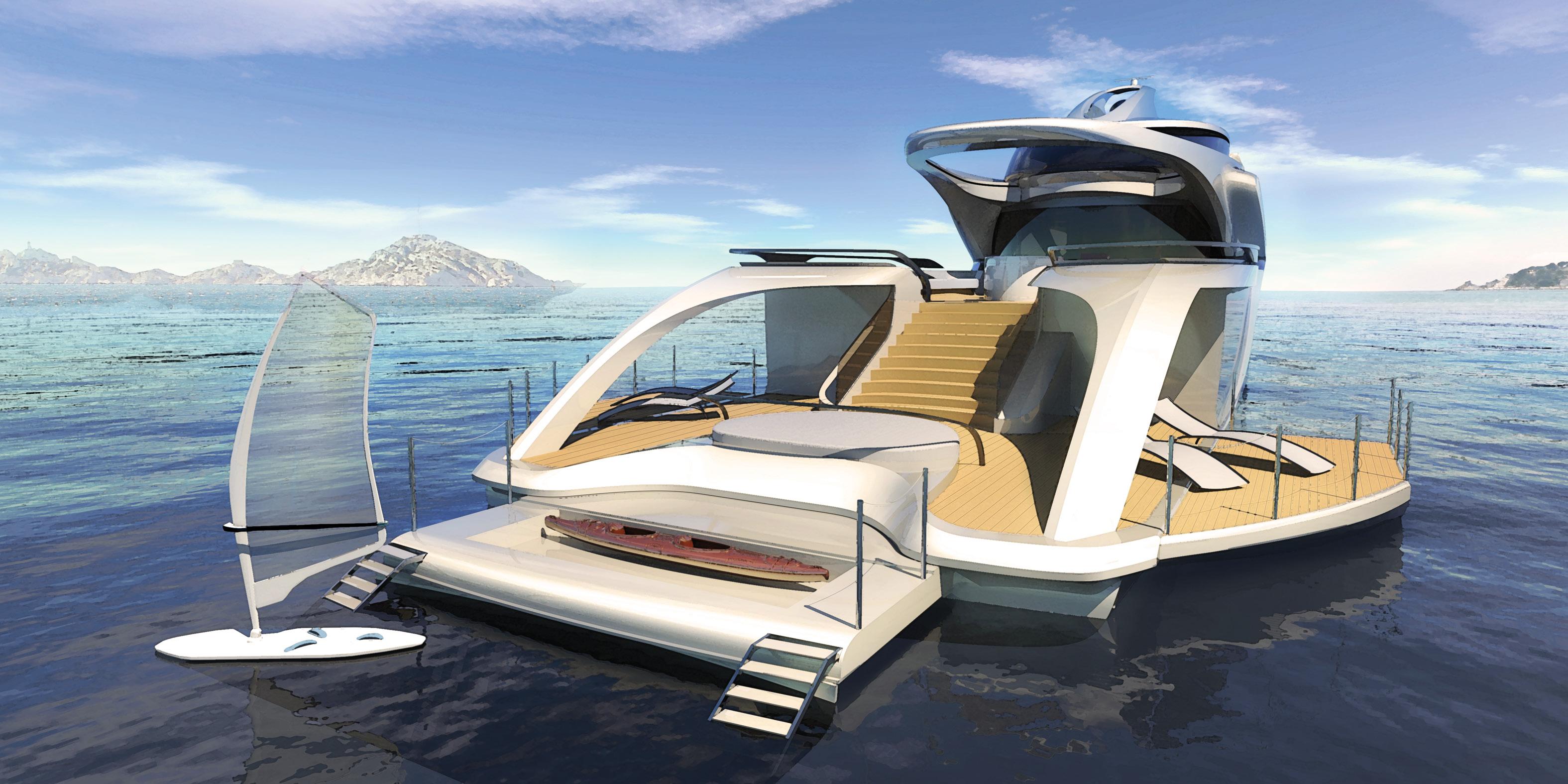Luxury Superyacht concept CERCIO designed by Baoqi Xiao