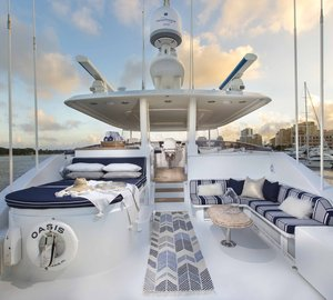 No Delivery Fees For Westport 112 Motor Yacht OASIS in the Bahamas in Early May