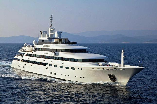Superyacht O'Mega can accommodate 28 guests