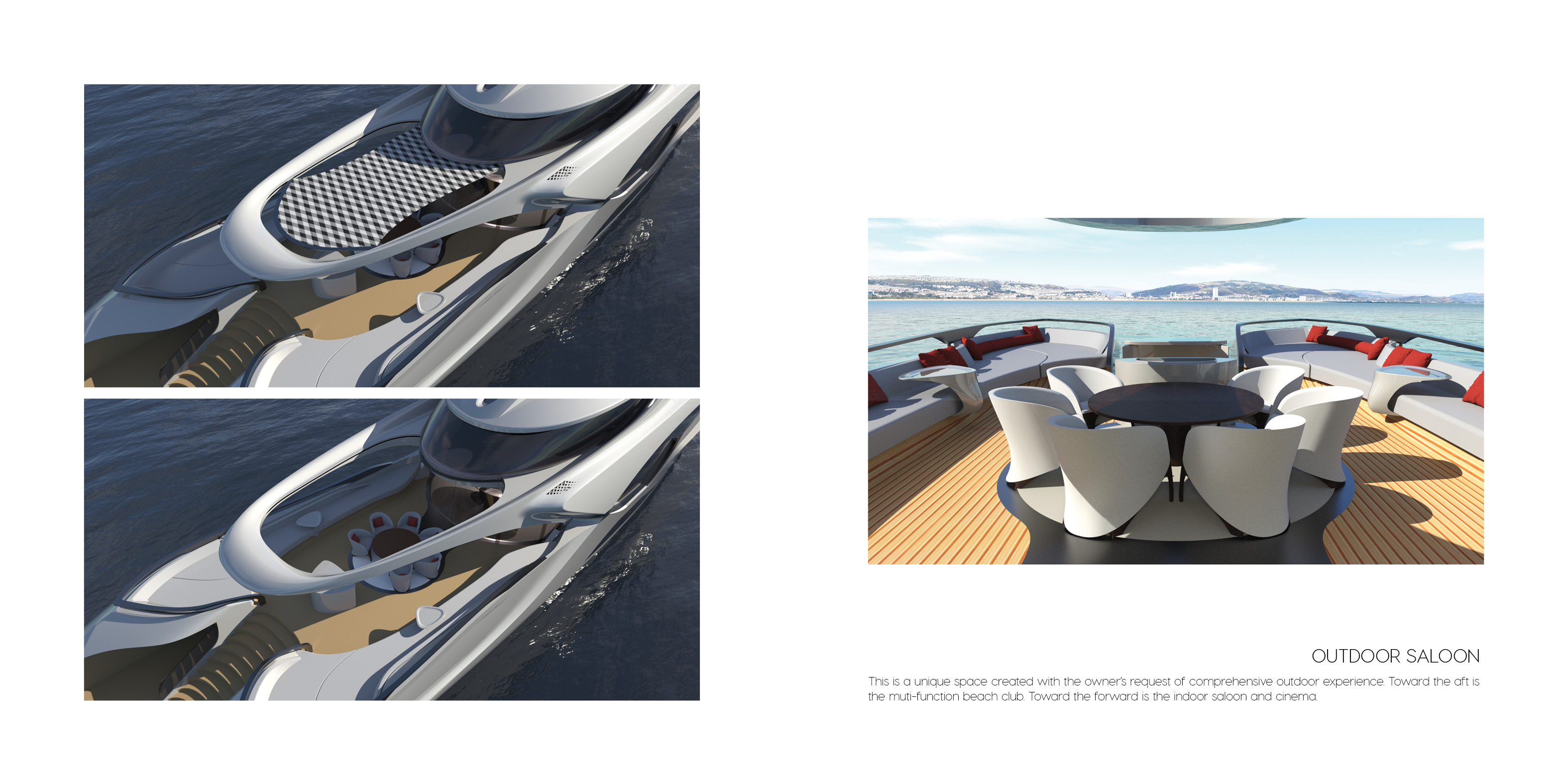 Outdoor Saloon - Superyacht concept CERCIO designed by Baoqi Xiao
