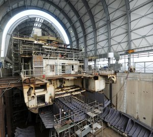 Ex Mega Yacht DELMA at Final Stages of Massive Conversion at Amico & Co