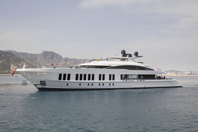 60m SAMURAI Superyacht launched by ALIA YACHTS