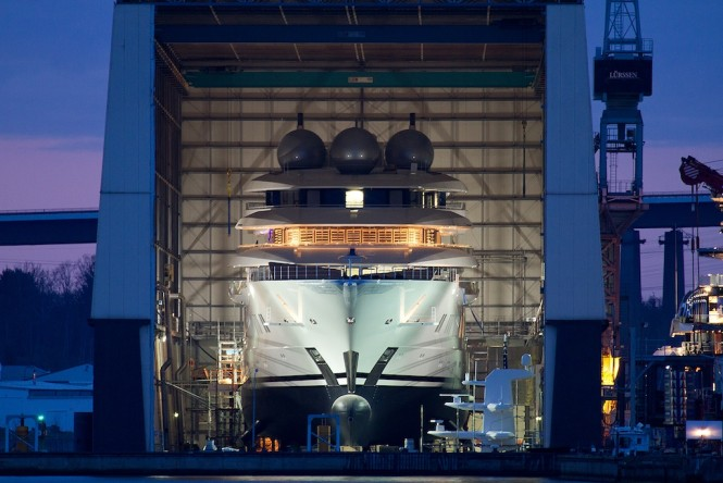 Mistral at Lurssen - Photo ©Andreas Jens