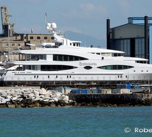 56m QUEEN MAVIA Superyacht (ex Lady Christine) By Oceanco Spotted in Italy