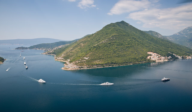 The superyacht Cruise in Company explore the Bay of Kotor - Photo Jeff Brown