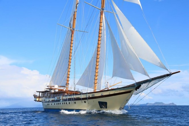 exotic thailand and myanmar adventure yacht charter aboard 65m traditional phinisi lamima