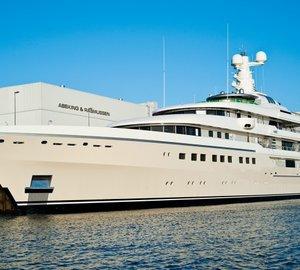 Video: 82M Mega Yacht KIBO on her way to Gibraltar