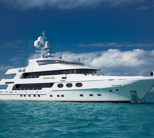Beautiful 50m Christensen Charter Yacht REMEMBER WHEN Special Weekly Offer in the Bahamas