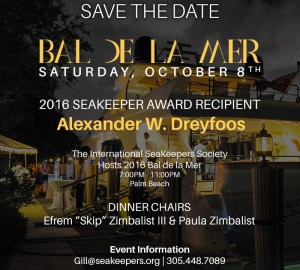 SeaKeepers BAL DE LA MER 2016 To Be Held in Florida