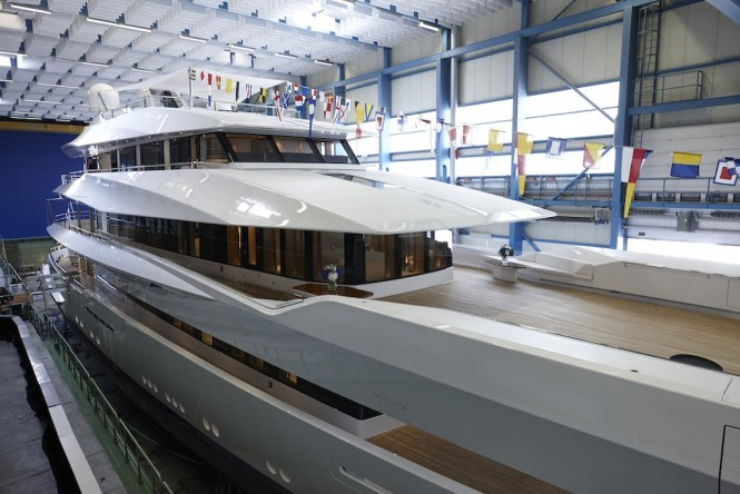 Superyacht JOY by Feadship at launch