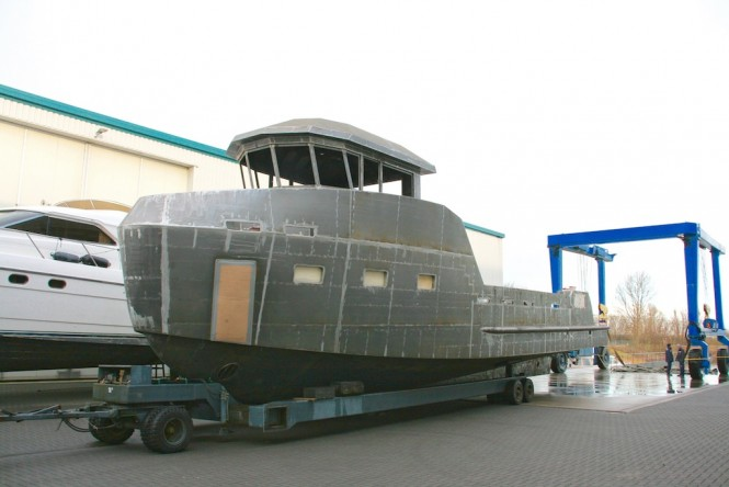 YXT 20 Superyacht Support Vessel Under Construction