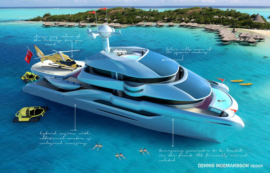 Follow The Sun - a superyacht concept by Dennis Ingemansson