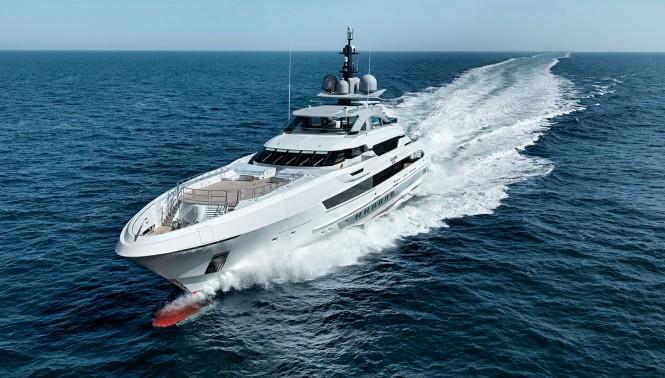 Heesen galactica super nova yacht underway