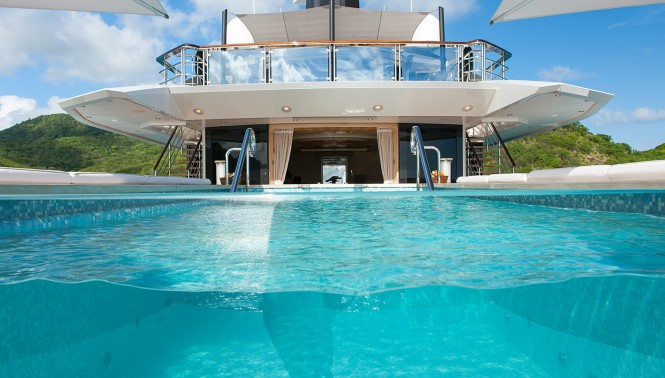 Quattroelle the yacht pool