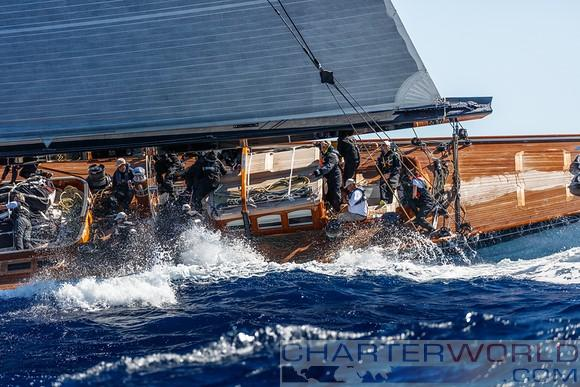 J Class yachts open their account at the Maxi Yacht Rolex Cup 2016 - Yacht Lionheart - © Martinez Studio