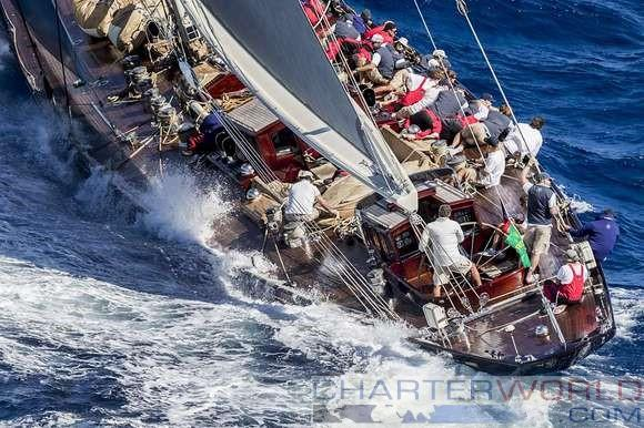 J Class yachts open their account at the Maxi Yacht Rolex Cup 2016 - Yacht Valsheda - © Martinez Studio