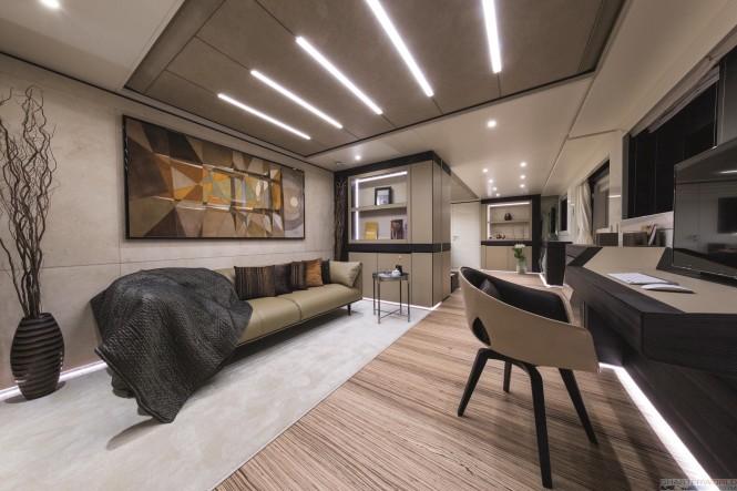 Wider 150 Genesi Interior Design. Photo by Jeff Brown