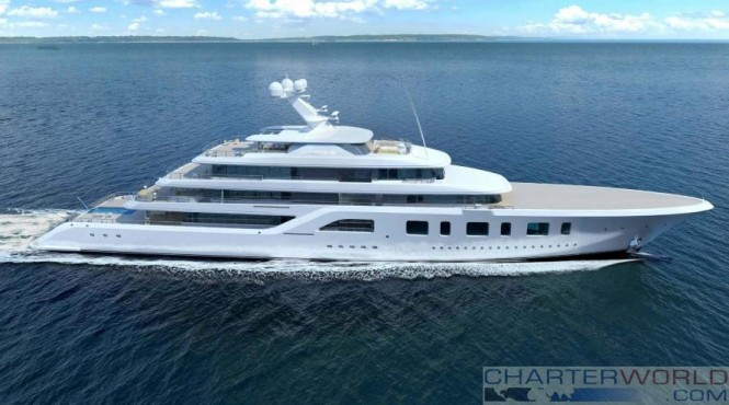 Sinot Exclusive Yacht Design - Superyacht Aquarius or Project Touchdown renderings - profile 2