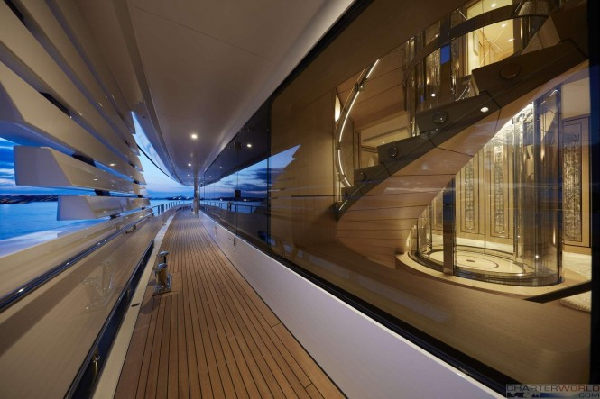Yacht JOY Side Deck Detail - Copyright Feadship